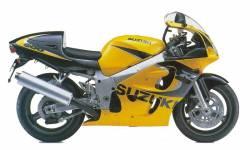 Suzuki GSX-R 600 1999 yellow decals kit