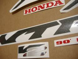 Honda vtr 1000F 1999 Firestorm silver stickers set