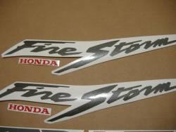 Honda vtr 1000F 1999 silver full decals kit