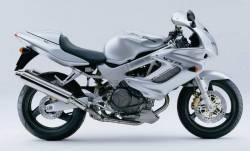 Honda vtr 1000F 1999 Firestorm silver decals