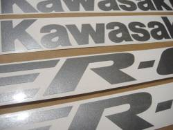 Kawasaki ER6F 650R 2006 black decals kit