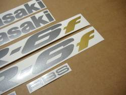 Kawasaki ER 6F 2006 black labels graphics