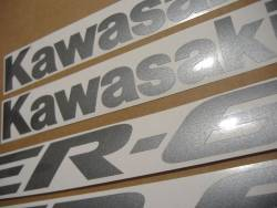 Kawasaki ER6F 2006 black stickers set