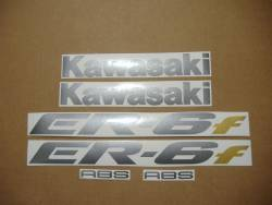 Kawasaki ER-6F 2006 650R black stickers