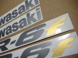 Kawasaki ER 6F 2006 black stickers kit