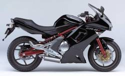 Kawasaki ER 6F 2008 black full decals kit