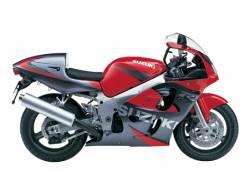 Suzuki GSX-R 600 2000 red decals kit