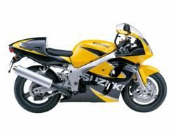 Suzuki GSX-R 600 2000 yellow decals kit