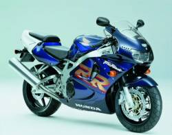 Honda 919RR Fireblade 1999 blue reproduction stickers