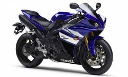 Yamaha R1 2011 RN22 14b blue stickers