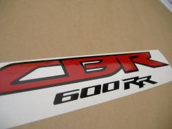 Honda CBR 600RR 2011 white replica decal set