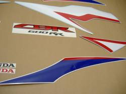 Honda 600RR 2011 white complete sticker kit