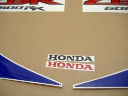 Honda 600RR 2011 white full decals kit