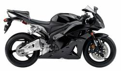 Honda 600RR 2011 black graphics kit