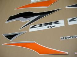Honda cbr 600rr 2010 orange graphics kit