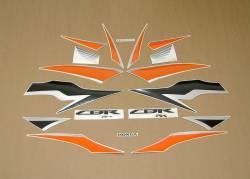 Honda CBR 600RR 2010 orange stickers kit