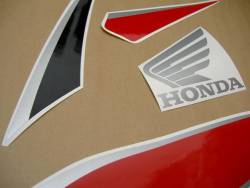 Honda 600RR 2010 red black stickers set