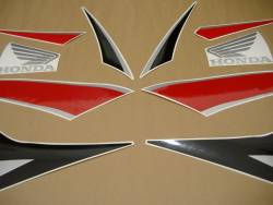 Honda CBR 600RR 2010 red black decals