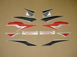 Honda CBR 600RR 2011 black decals