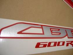 Honda 600RR 2011 black full decals kit