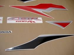 Honda cbr 600rr 2011 black red graphics set