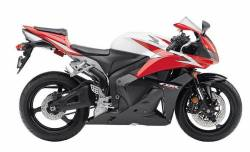Honda 600RR 2009 black complete sticker kit