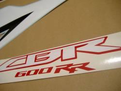 Honda 600RR 2009 black stickers set