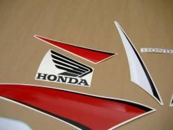 Honda 600RR 2009 black adhesives set