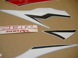 Honda CBR 600RR 2009 black logo graphics