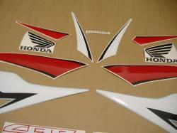 Honda 600RR 2009 black full decals kit