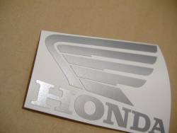 Honda 600RR 2009 black red adhesives set