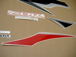 Honda CBR 600RR 2009 black stickers