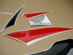Honda 600RR 2009 black stickers set