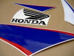 Honda 600RR 2010 white blue stickers set