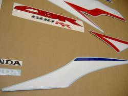 Honda cbr 600rr 2010 white reproduction stickers