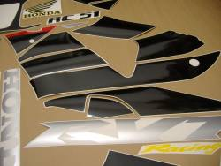 Honda rvt 1000r 2001 RC51 red decal set