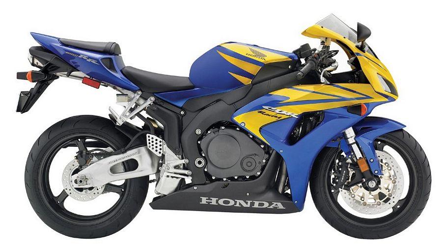 Сине-желтый мотоцикл бесплатно