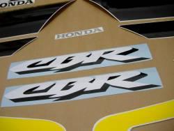 Honda 600 F4 2002 yellow reproduction stickers