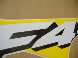 Honda 600 F4 2002 yellow full decals kit