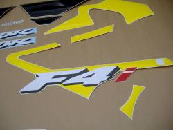 Honda 600 F4i 2002 yellow complete sticker kit