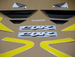 Honda 600 F4 2002 yellow reproduction decals