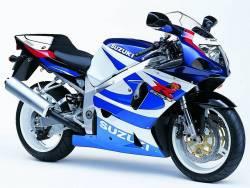 Suzuki GSXR 750 2000 white labels graphics