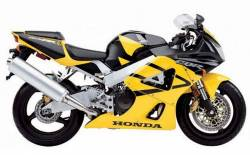 Honda CBR 929RR 2001 SC44 yellow decals kit