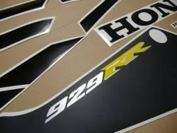 Honda CBR 929RR 2001 SC44 yellow logo graphics