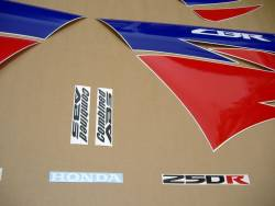 Honda CBR 250R 2013 white stickers kit