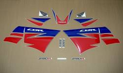 Honda 250R 2013 white stickers set
