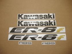 Kawasaki ER 6F 2007 silver adhesives set