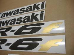 Kawasaki ER-6F 2007 650 silver decals