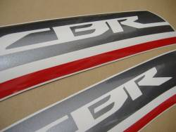 Honda CBR 600F 2012 white decals