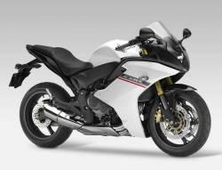 Honda CBR 600F 2012 white stickers